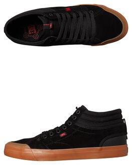 BLACK GUM MENS FOOTWEAR DC SHOES SNEAKERS - ADYS300380BGM