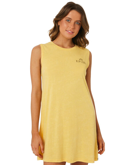 LIGHT YELLOW WOMENS CLOTHING RIP CURL DRESSES - GDRGY14094