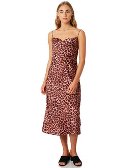 PEACH LEOPARD WOMENS CLOTHING THE FIFTH LABEL DRESSES - 40190526-3LEOP