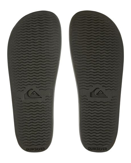 GREEN/GREY/GREEN MENS FOOTWEAR QUIKSILVER SLIDES - AQYL100867-XGSG