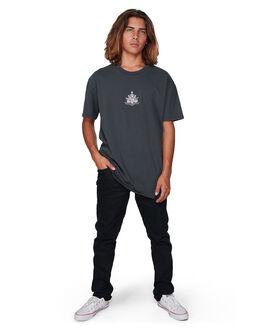 WASHED BLACK MENS CLOTHING BILLABONG TEES - BB-9507028-WAA
