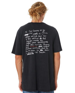 WASHED BLACK MENS CLOTHING SILENT THEORY TEES - 4033023WBLK