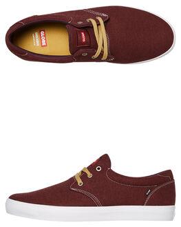 BURGUNDY MENS FOOTWEAR GLOBE SKATE SHOES - GBWINSLOW19990