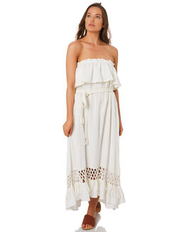 WHITE WOMENS CLOTHING TIGERLILY DRESSES - T392451WHT