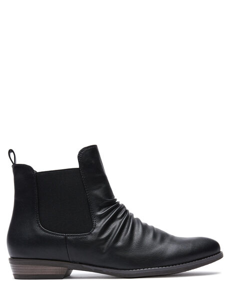 BLACK WOMENS FOOTWEAR THERAPY BOOTS - 10593BLK