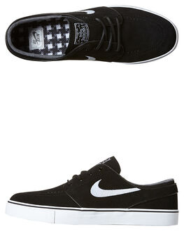 BLACK WHITE MENS FOOTWEAR NIKE SKATE SHOES - 833603-012