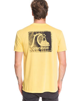 MISTED YELLOW MENS CLOTHING QUIKSILVER TEES - EQYZT05644-YHL0