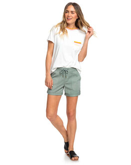 LILY PAD WOMENS CLOTHING ROXY SHORTS - ERJNS03203-GJN0