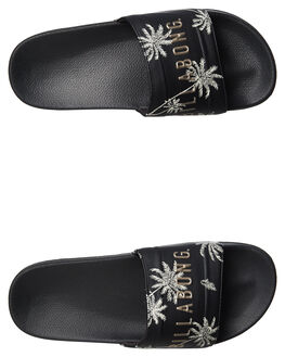 BLACK WOMENS FOOTWEAR BILLABONG SLIDES - 6695801BLK