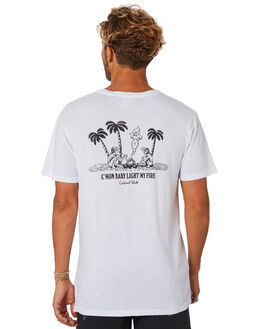 WHITE MENS CLOTHING THE CRITICAL SLIDE SOCIETY TEES - TE18113WHT