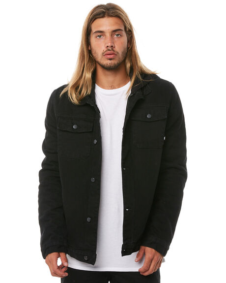BLACK MENS CLOTHING RPM JACKETS - 8AMT27ABLK