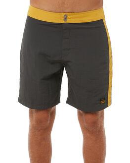 PIRATE BLACK MENS CLOTHING RVCA BOARDSHORTS - R383404PBLK
