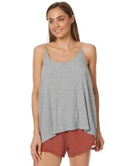 GREY MARLE WOMENS CLOTHING RUSTY SINGLETS - TSL0521GMA