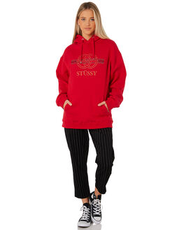 RED WOMENS CLOTHING STUSSY JUMPERS - ST187308RED