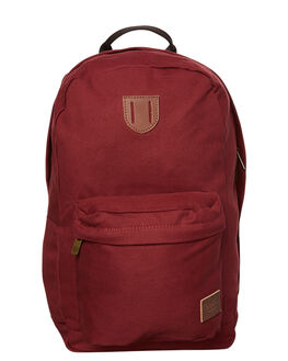 BURGUNDY MENS ACCESSORIES BRIXTON BAGS + BACKPACKS - 05227BRGDY