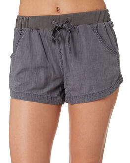 GREY WOMENS CLOTHING RUSTY SHORTS - WKL0590GYS