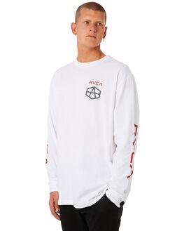 WHITE MENS CLOTHING RVCA TEES - R381094WHT