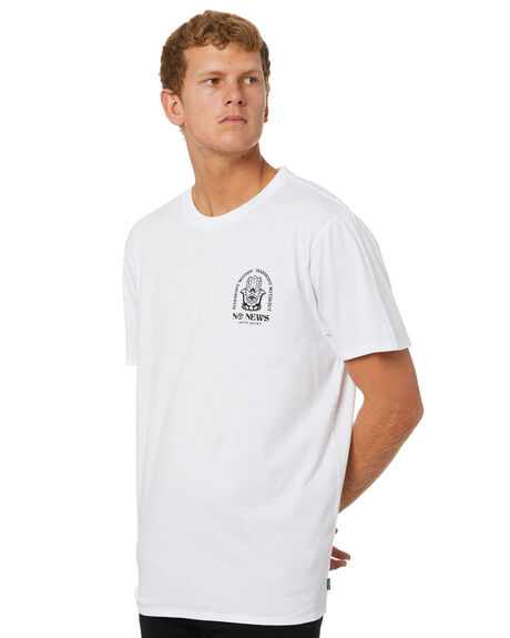 WHITE OUTLET MENS NO NEWS TEES - N5214004WHT