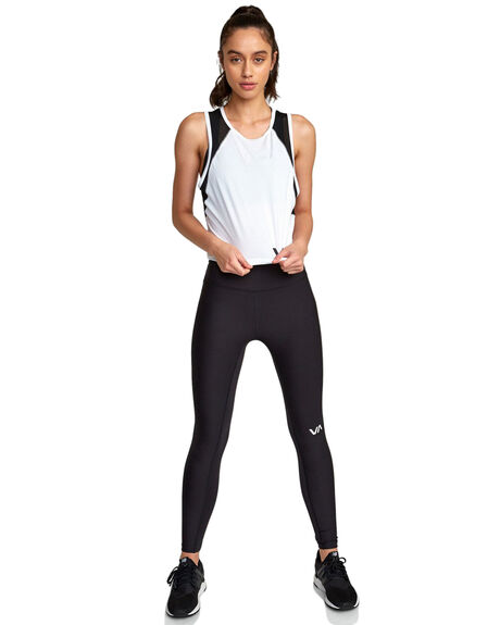 WHITE WOMENS CLOTHING RVCA ACTIVEWEAR - RV-R407876-WHT