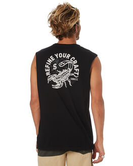 BLACK MENS CLOTHING SWELL SINGLETS - S5184281BLK