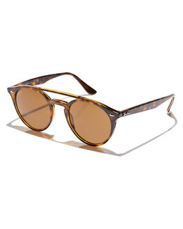 SHINY HAVANA BROWN MENS ACCESSORIES RAY-BAN SUNGLASSES - 0RB427971073