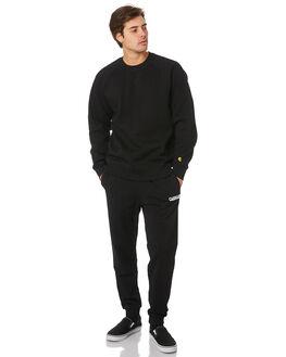 BLACK WHITE MENS CLOTHING CARHARTT PANTS - I024672-89BKWH