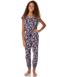 FLORA PRINT KIDS GIRLS EVES SISTER PLAYSUITS + OVERALLS - 9990013PRNT