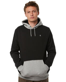 BLACK MENS CLOTHING VOLCOM JUMPERS - A5811806BLK