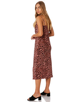 PEACH LEOPARD WOMENS CLOTHING THE FIFTH LABEL DRESSES - 40190526-3LEOP