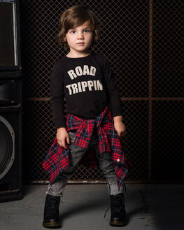 BLACK KIDS GIRLS ROCK YOUR KID TOPS - TGT1947-RTBLK