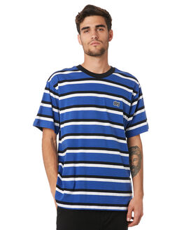 BLUE MULTI MENS CLOTHING OBEY TEES - 131080251BMU