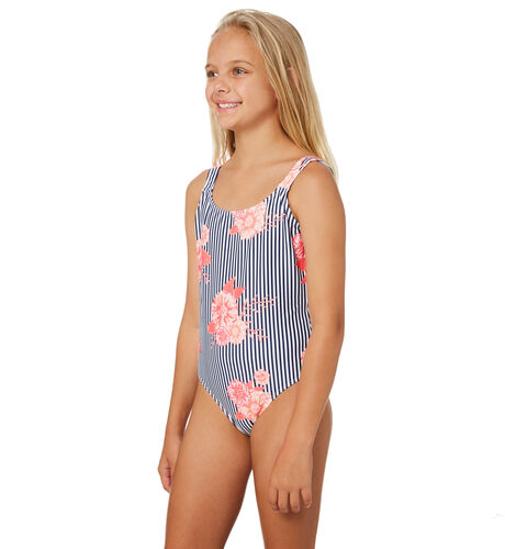 09f0ad70b2 Roxy Girls Young And Free One Piece - Teens - Medieval Blue | SurfStitch