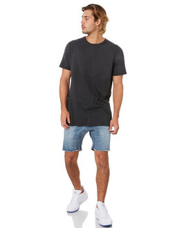 DARK BLUE DENIM MENS CLOTHING ZANEROBE SHORTS - 614-FLDDBLD