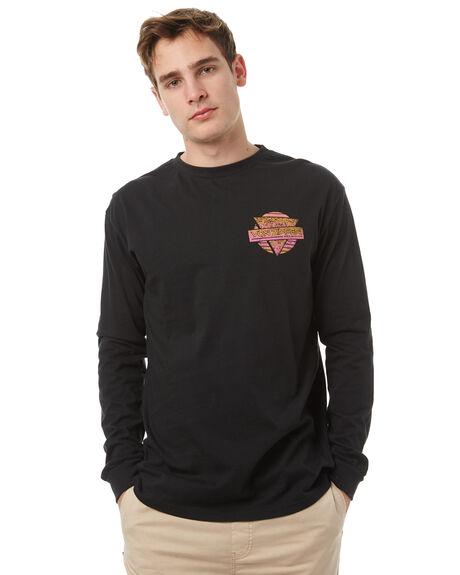 BLACK MENS CLOTHING VONZIPPER TEES - 3971006BLK