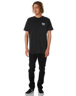 BLACK MENS CLOTHING SANTA CRUZ TEES - SC-MTB8876BLK