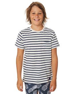 NAVY WHITE KIDS BOYS ACADEMY BRAND TOPS - B19S414NVYWH