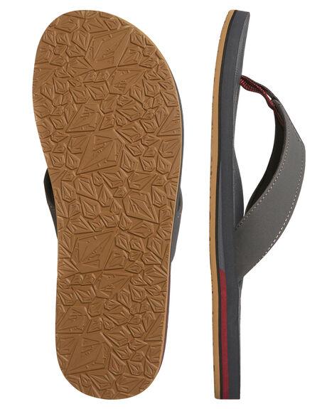 GREY VINTAGE MENS FOOTWEAR VOLCOM THONGS - V0811522GVN