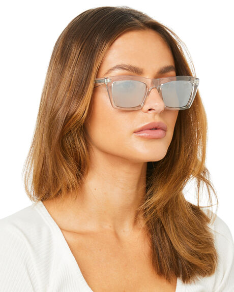 SHINY CRYSTAL SILVER WOMENS ACCESSORIES KENDALL AND KYLIE SUNGLASSES - KK5057G-972CSFL