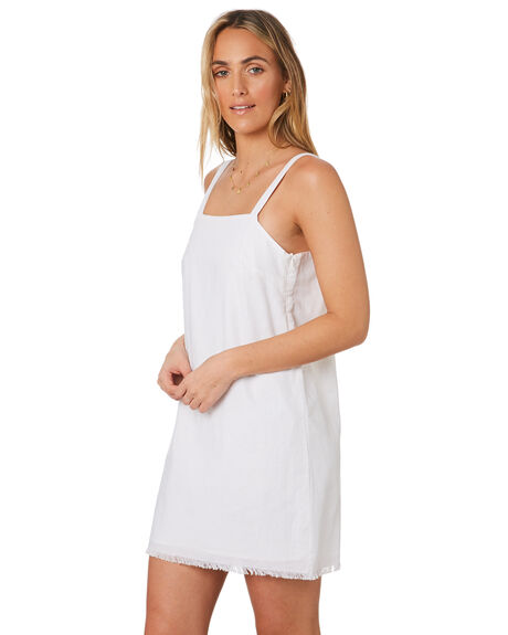 WHITE WOMENS CLOTHING NUDE LUCY DRESSES - NU23776WHITE