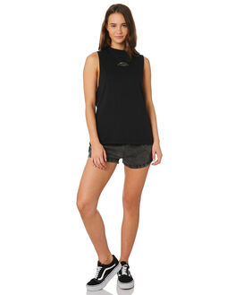 BLACK WOMENS CLOTHING SANTA CRUZ SINGLETS - SC-WTC9896BLK
