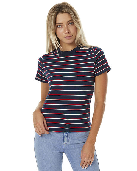 NAVY/RED WOMENS CLOTHING ROLLAS TEES - 121101253