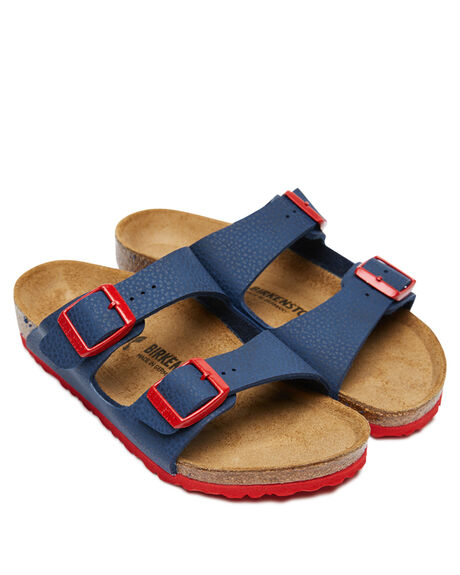 NAVY RED KIDS BOYS BIRKENSTOCK THONGS - 1017364NRED