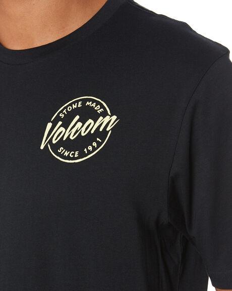 BLACK MENS CLOTHING VOLCOM TEES - A5002008BLK