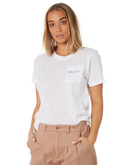 WHITE WOMENS CLOTHING RUSTY TEES - TTL1019WHT