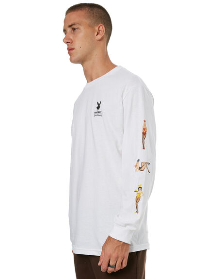 WHITE MENS CLOTHING GOOD WORTH TEES - LPPL1741WHT