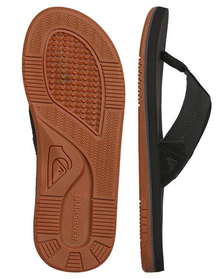BLACK BLACK BROWN MENS FOOTWEAR QUIKSILVER THONGS - AQYL100633XKKC