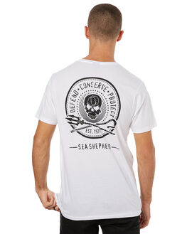 WHITE MENS CLOTHING SEA SHEPHERD TEES - SSA830BWHT