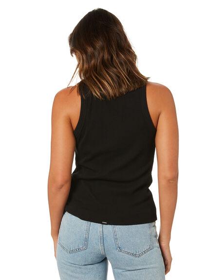 BLACK WOMENS CLOTHING THRILLS SINGLETS - WTA21-154BBLK