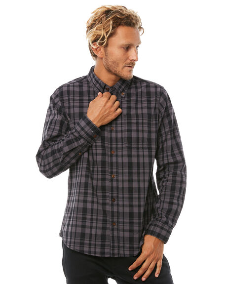 CHARCOAL MENS CLOTHING DEUS EX MACHINA SHIRTS - DMP85039CHAR