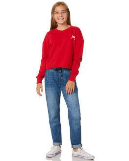 DARK RED KIDS GIRLS RIDERS BY LEE JUMPERS + JACKETS - R-80119T-343